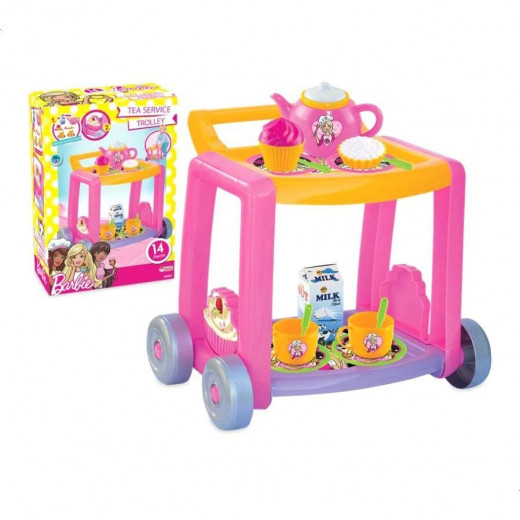 "Dede Tea Service Trolley 14 Pcs ""barbie"""