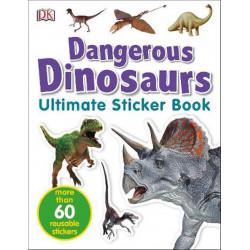كتاب ملصقات الديناصورات الخطرة النهائي من كتب دي كي للنشر